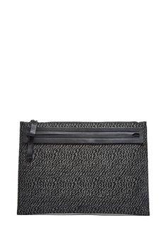 LANVIN Men'S Rectangular Woven Zebra Clutch Bag In Black. #lanvin #bags…
