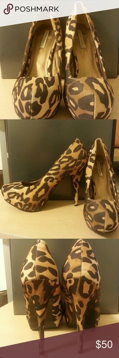 Leopard print pumps 4 inch heels  leopard print pumps. Bought these from heels.com lovely people  Shoes Heels