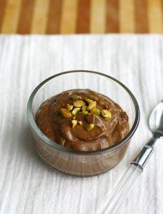 Paleo and vegan chocolate avocado pudding.