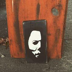 Halloween, Halloween decor, Halloween wood sign, Halloween sign, Michael Myers, Michael Myers art, Michael Myers mask, Halloween movie by 1heartcreationsOhana on Etsy