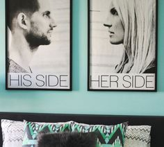 His and Her Bedsides...love.love love this