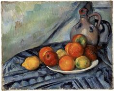 Paul Cezanne Fruit And Jug On A Table Oil Painting Reproductions for sale Museum Of Fine Arts, Art Museum, Cezanne Still Life, Paul Cezanne Paintings, Cezanne Art, Oil Paintings, Matisse, Still Life Fruit, Oil Painting Reproductions