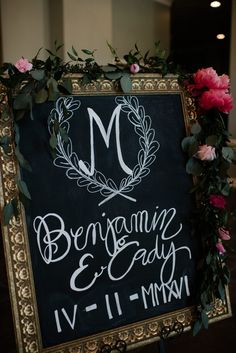 wedding sign with coral peonies | wedding sign with greenery garland | pink and coral wedding flowers | Southern Productions Mississippi Wedding Planner and FloristSouthern Productions Mississippi Wedding Planner and Florist | Mississippi Wedding Florist and Planner