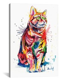 Look at this #zulilyfind! Tabby Watercolor Wrapped Canvas #zulilyfinds