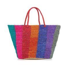 Sensi Studio Maxi woven tote ($189) ❤ liked on Polyvore featuring bags, handbags, tote bags, multi, tote purse, straw purses, straw tote bag, handbags totes and beach tote bags