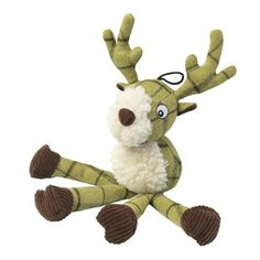 Tweed long legs stag dog toy