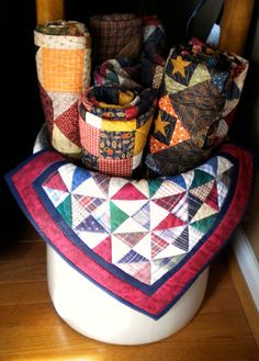 Small Quilts In A Bin! - must have ran out of walls :-)