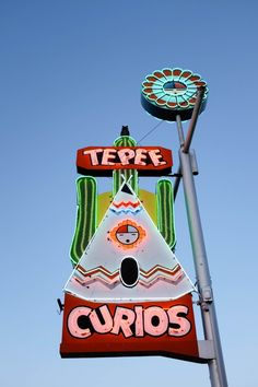 Stop at Tepee Curios for a souvenir along your Route 66 road trip in Tucumcari, New Mexico! Or at least just stop for their awesome neon sign! // saltycanary.com