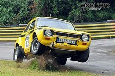 Turns out that a Ford Escort looks good from any angle Escort Mk1, Ford Escort, Ford Capri, Ford Rs, Car Ford, Vintage Racing, Vintage Cars, Sport Cars, Motor Sport