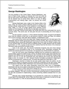 Book report about george washington
