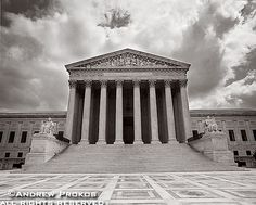 View of the United States Supreme Court (Black and White) - http://andrewprokos.com