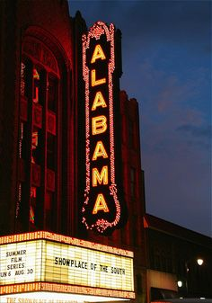 Color photograph of The Alabama Theatre in Birmingham, Alabama.