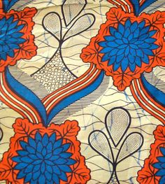 African Wax Print Fabric - Half Yard