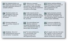 The Agile Manifesto is based on twelve principles:
