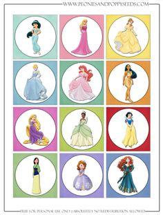 Has 7 pages--- http://www.peoniesandpoppyseeds.com/2013/04/disney-princess-party-printables.html