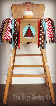 TRIBAL TEE PEE Birthday Age HighChair Highchair Birthday Banner/Party/Photo Prop/Bunting/Backdrop/Chair Banner/Cake Smash/Teepee/I Am One by RawEdgeSewingCo on Etsy https://www.etsy.com/listing/228559745/tribal-tee-pee-birthday-age-highchair