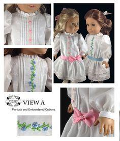 Garden Party Dress 18 inch Doll Clothes PDF Pattern Download   Pixie Faire