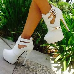 Cheap Women's Pumps, Buy Directly from China Suppliers: Live your life in shoes you love Design your dream shoes and get exactly what you want & High Heels Boots, White Ankle Boots, Heeled Boots, Bootie Boots, Shoe Boots, Shoes Heels, Ugg Boots, White Pumps, Women's Pumps