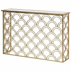 This art deco inspired Deco Fan Gold Slim Console Table is perfect for narrow spaces. Handmade with a mirrored top to bring glamour to your home. Unusual Furniture, Mirrored Console Table, Slim Console Table, Narrow Hallway, Deco, Wall Colors, Table, Glass Mirror, Arch Mirror