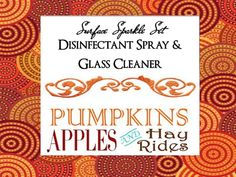 HAYRIDES APPLES & PUMPKINS Surface Sparkle Set by YellowEpiphanies