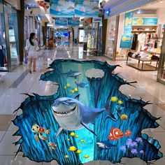 Among all the Floor Coating Services, Epoxy Floor is gaining increasing popularity. The epoxy floor has been used more and more in shopping… 3d Floor Art, 3d Floor Painting, Floor Murals, Wallpaper Floor, Epoxy Floor Designs, Sol 3d, 3d Flooring, Tableau Design, 3d Street Art