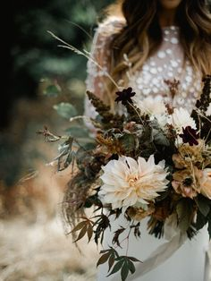 Botanical Autumn Bridal Bouquet. Designed by Celsia Floral ~ Vancouver Florist  Photo: Christie Graham Photography