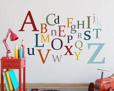 #ABC lernen leicht gemacht mit dem #Wandmotiv von #TinyFoxes für den #Schulanfang.