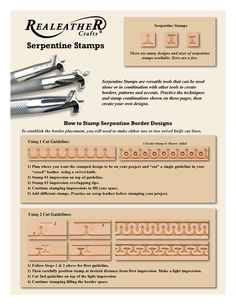 Serpentine Stamps and Border Designs | Realeather