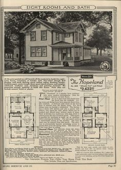 Sears Roebuck and Co. Honor Bilt Modern Homes:  The Hopeland