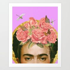 Frida Kahlo Art Print by Artistic Side Of Life | Society6