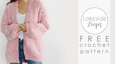 This easy crochet cardigan made with Bernat Velvet yarn can be made in 9 different sizes from women's XS to The crochet pattern is FREE on www. Crochet Baby Cardigan Free Pattern, Gilet Crochet, Crochet Patterns, Quick Crochet, Free Crochet, Crochet Instructions, Crochet Videos, Crochet Clothes, Free Knitting