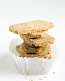 Keep the dough for this delicate, flavorful cookie in your freezer. Later, you can slice off just what you need from the frozen log of dough and bake.
