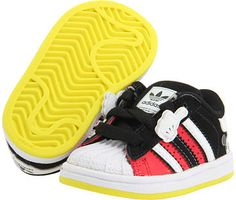 Adidas Kids - Superstar Mickey Mouse (Infant/Toddler) thestylecure.com