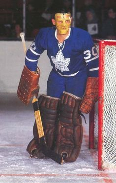 """Favorite Goalie of All Time.  Terry """"Ukey""""  Sawchuk."""