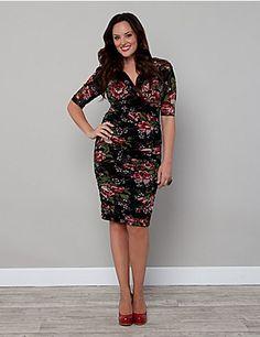 Betsey Ruched Dress   Lane Bryant