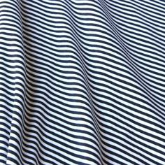Cotton Jersey - Striped Navy-White