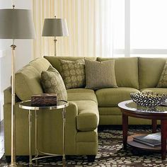 If we get a sectional we can rearrange it into whatever configuration fits the room the best! Pretty good as beds too, I've slept on one before, especially since you can rearrange it to be longer