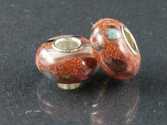 USA seller - 5 pcs Lampwork Murano Glass Beads fits European Charm Bracelets (mu70a)