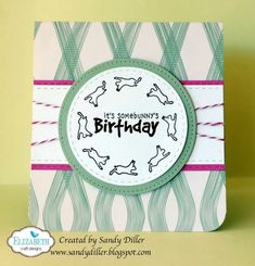 Pop it Up Wednesday with Sandy - Some Bunny's Birthday