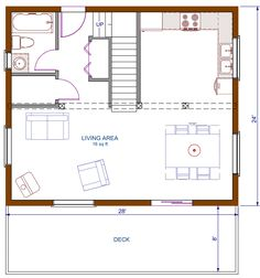 Needs a master bath but small cute open concept kitchen for Open concept house plans with loft