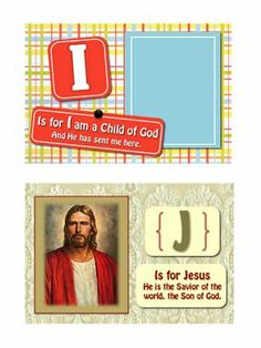 J is for Jesus = Gospel ABC Book!  So cute... must print and make :)