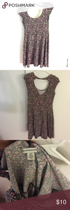 Cute Sundress Flowery sundress from American eagle size small, open back at the top. Can dress up with wedges or dress down with sandals American Eagle Outfitters Dresses