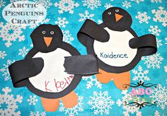 This Arctic Penguin Craft For Preschool Kids is perfect for fine motor skill practice. Learning about penguins? Make this fun arctic craft! Arctic Penguins, Arctic Animals, Baby Penguins, Craft Projects For Kids, Crafts For Kids To Make, Art Projects, Preschool Themes, Preschool Crafts, Penguin Craft