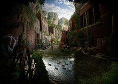 ambiente, fotografia, ilustração, nuck, pedersen, planeta, selva, utopia