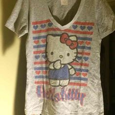 Hello kitty shirt Gray hello kitty tee Sanrio Tops Tees - Short Sleeve