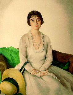 Савелий Сорин (1878 — 1953) Ее Величество королева-консорт Элизабет Боуз-Лион