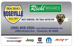 Get your brand new loyalty cards from Mike Riehl's Roseville Chrysler Dodge Jeep Ram today.