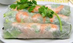 how to make amazing asian summer rolls and yummy dipping sauce! Rice Paper Spring Rolls, Shrimp Spring Rolls, Fresh Spring Rolls, Summer Rolls, Fresh Rolls, Slaw Recipes, Sauce Recipes, Healthy Recipes, Healthy Eats