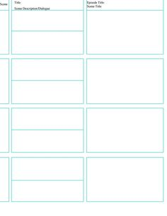Storyboard Templates  Google Search  Video