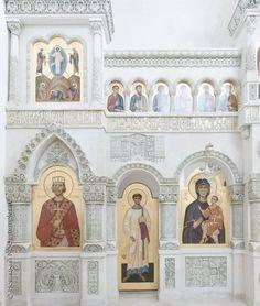 Détail de l'iconostase du temple de Saint-Vladimir - Monastère de Valaam - Construit entre 2006 et 2007 par A.A. Anisimov.